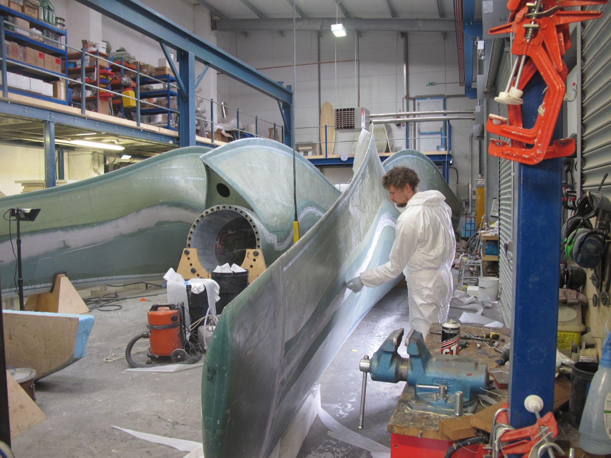 Tidal Turbine Blades under construction